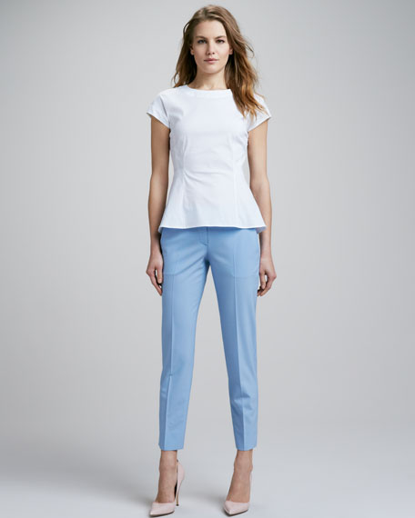 Tailor Cropped Twill Pants