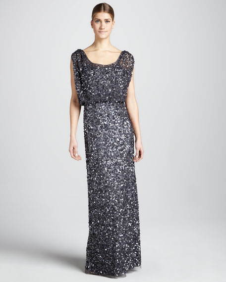 Beaded Sleeveless Gown