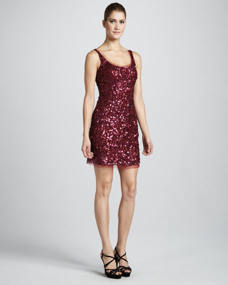 Sequined Tank Dress