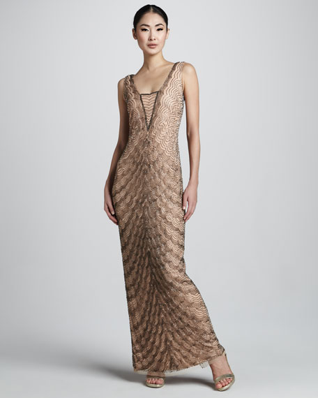 Scallop-Bead Dress
