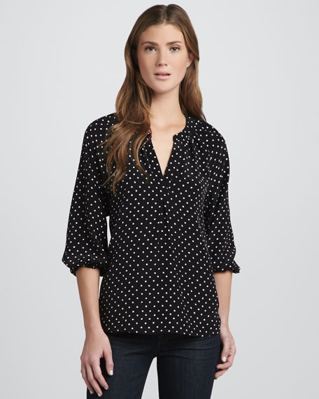 Addie B Polka Dot Top
