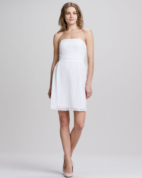Laundry by Shelli Segal Strapless Eyelet Lace Dress