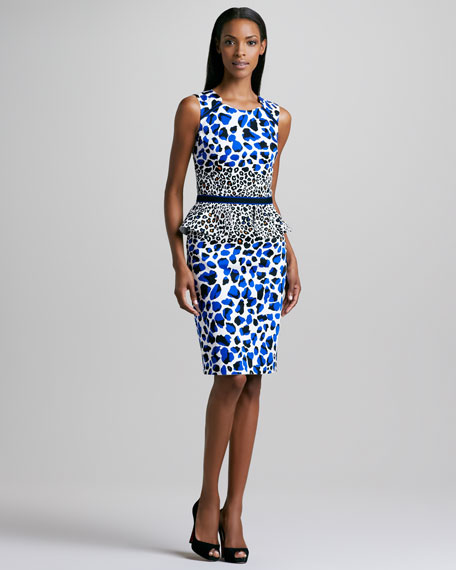 Animal-Print Peplum Dress