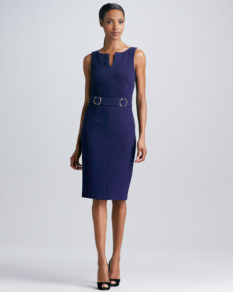 Tab-Waist Sheath Dress