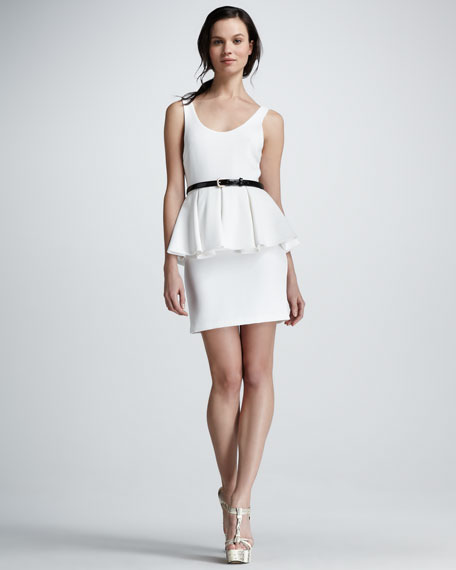Moira Belted Peplum Dress