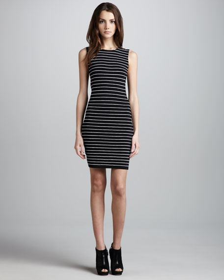 Dee Stripe Fitted Dress