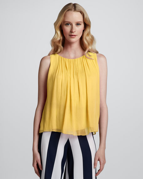Gathered Chiffon Tank