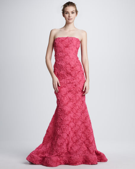 Strapless Soutache Mermaid Gown