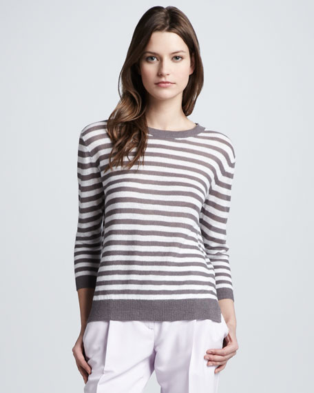 Sag Harbor Striped Knit Sweater