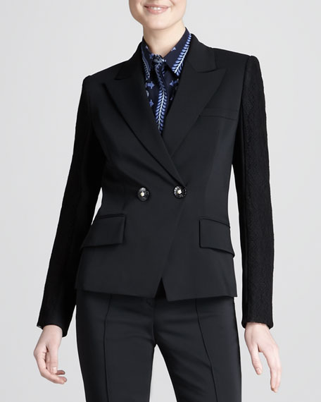 Two-Button Double-Breasted Jacket