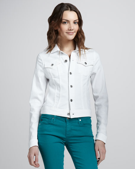 Robyn Denim Jacket, White