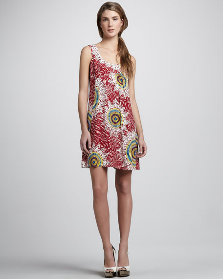 Medallion Printed Sleeveless Dress