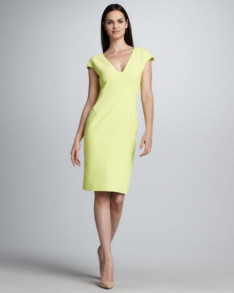 Cap-Sleeve Sheath Dress