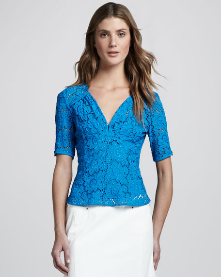 Bandit Lace Top, Blue Sky