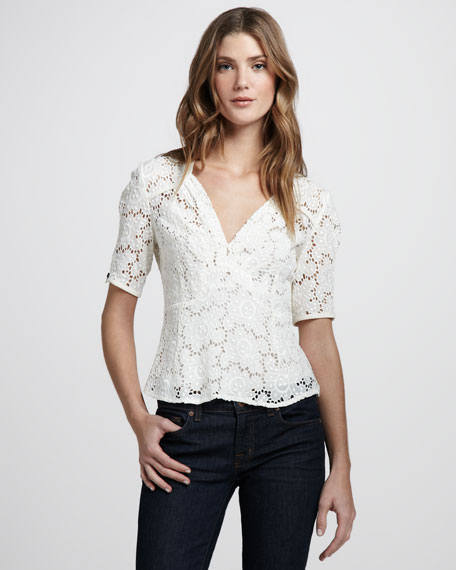 Bandit Lace Top, Ivory