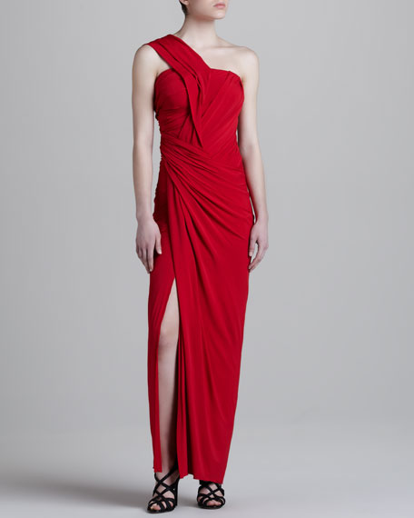 One-Shoulder Twist Maxi Dress