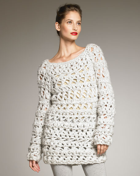 Hand-Knit Boucle Sweater