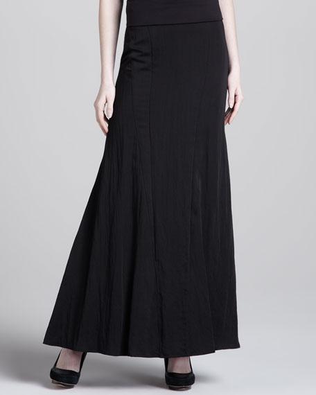Gored A-Line Maxi Skirt