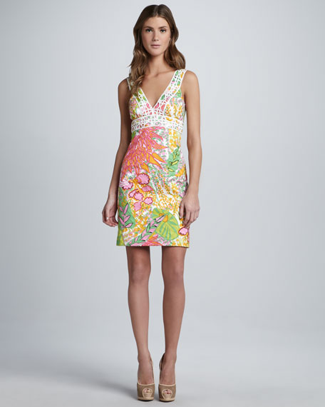 Secret Printed V-Neck Dress