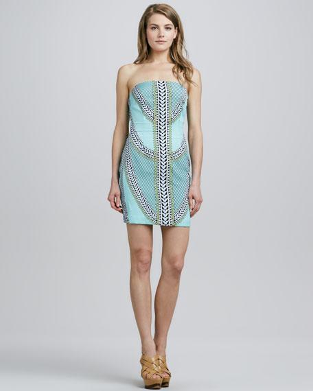 Shields Strapless Dress, Mint