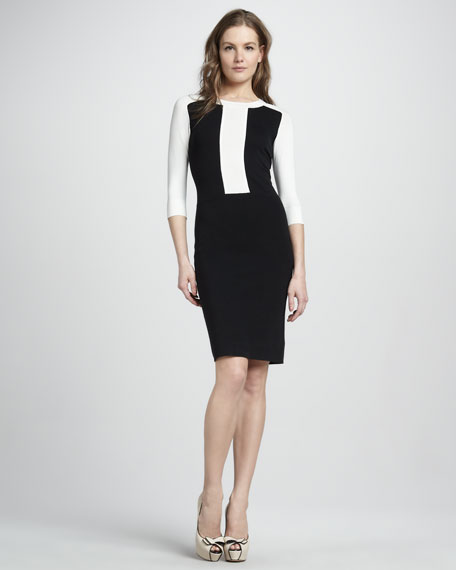 Faviana Colorblock Fitted Dress