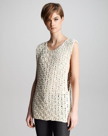 Drew Macrame Sleeveless Sweater
