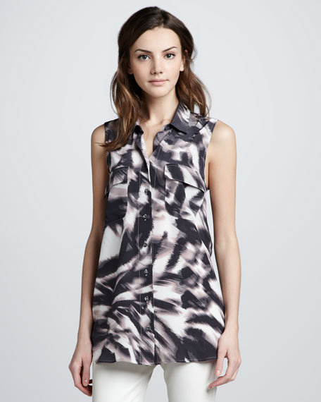 Zebra Print Silk Blouse 75