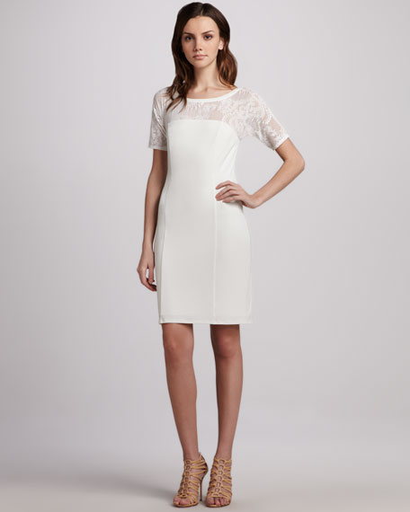 Stretch-Jersey Tailored Dress