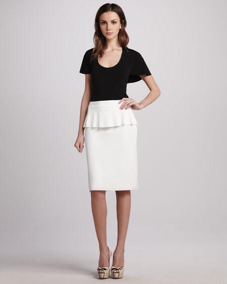 Jersey Peplum Skirt