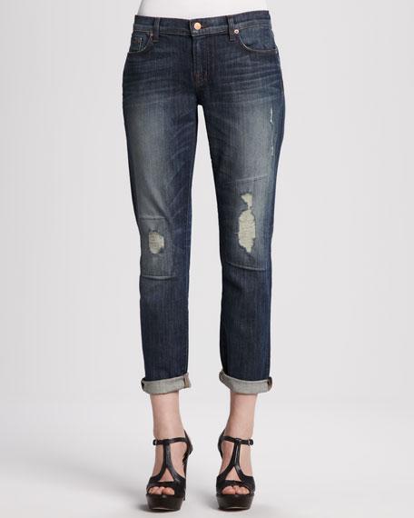 Aidan Bigtime Distressed Cuffed Jeans