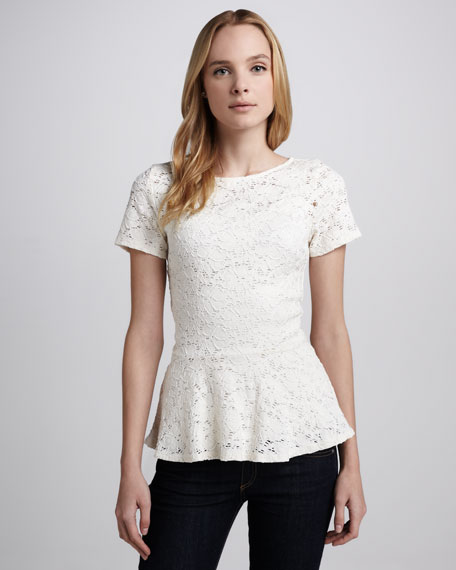Ruthie Lace Peplum Top