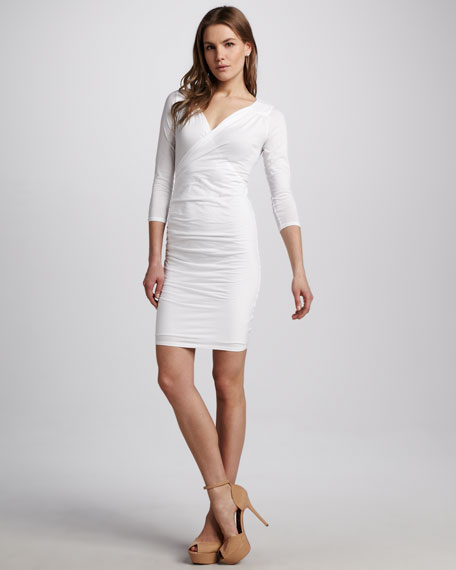 Faith Fitted Surplice Dress