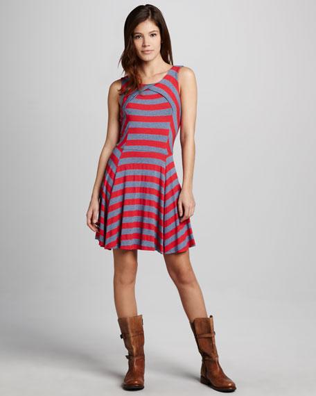 Sam Striped Slub Dress