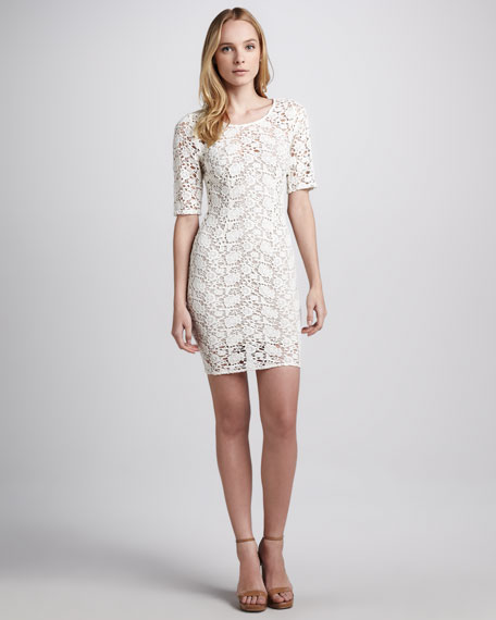 Lily Fitted Crochet Dress