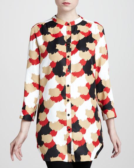 Brush-Dot Big Shirt