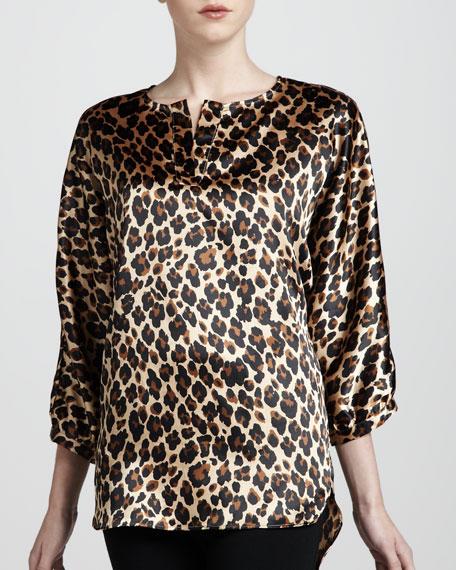 Adrienne Vittadini Leopard-Print Tunic