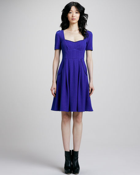 Gertie Pleat-Skirt Dress