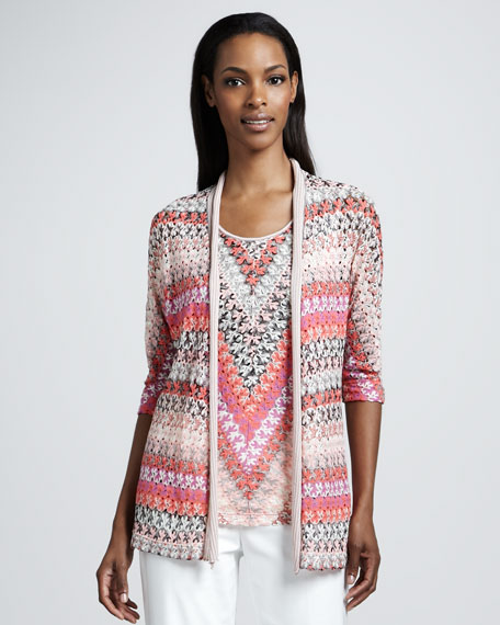 Lace Weave Cardigan