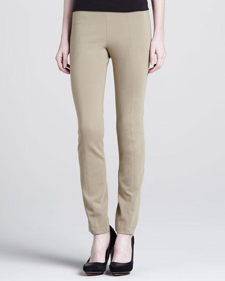 Seamed Skinny Pants, Rattan
