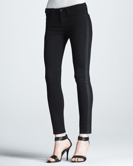 Side-Stripe Ankle Jeans