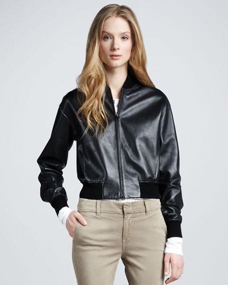 Vince leather jacket black