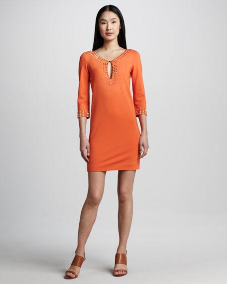 Studded Keyhole Dress