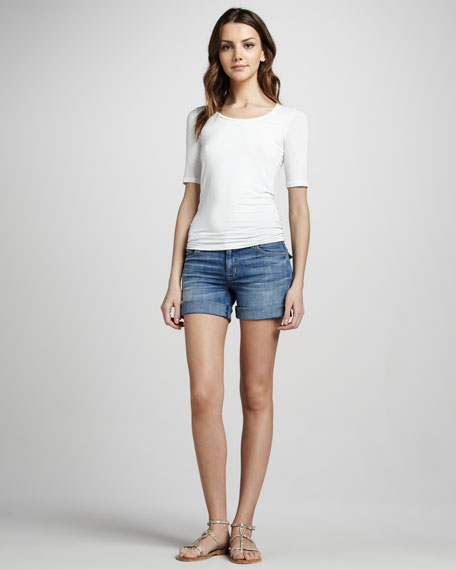 Croxley Mid-Thigh Denim Shorts