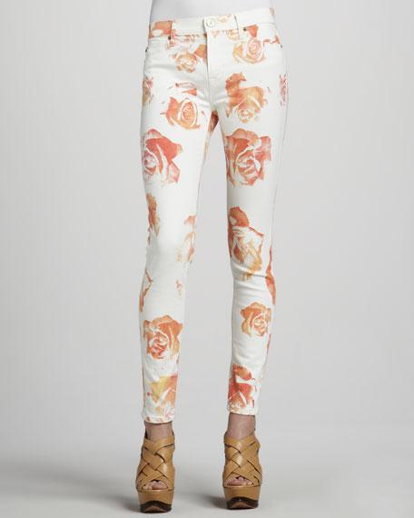 Nico Super-Skinny Rose-Print Jeans