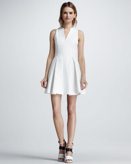 Snake-Jacquard Front-Zip Dress