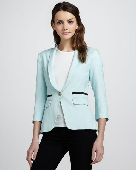 Shawl-Collar One-Button Blazer