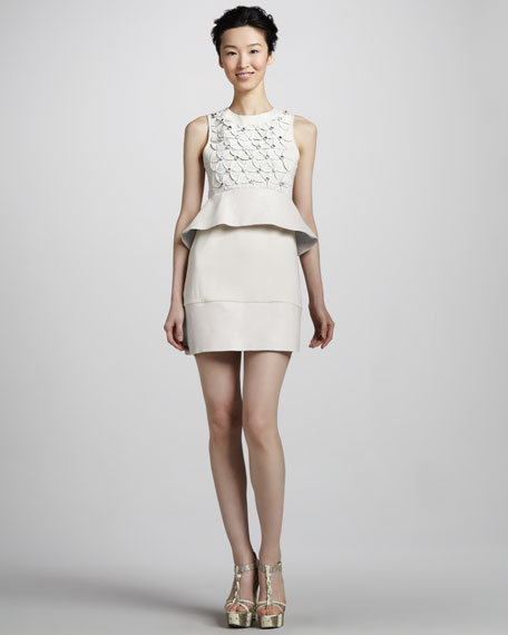 New Delian Applique Peplum Dress