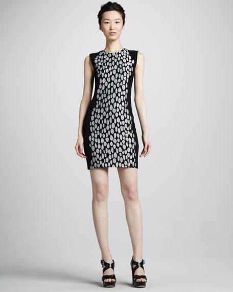 Tilda Dot-Print Contour Dress