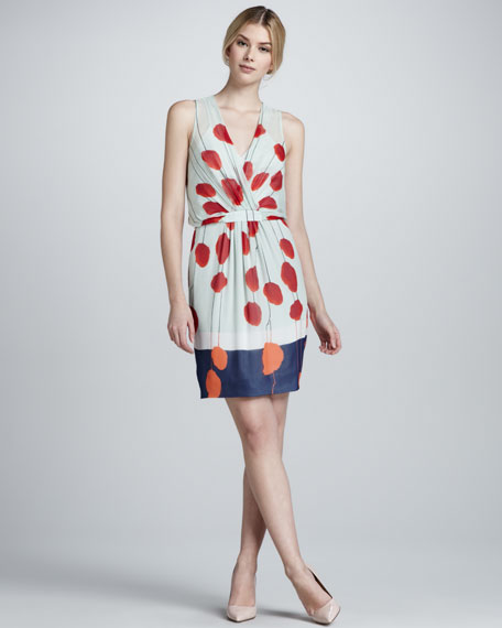 Jessica Abstract Floral-Print Dress