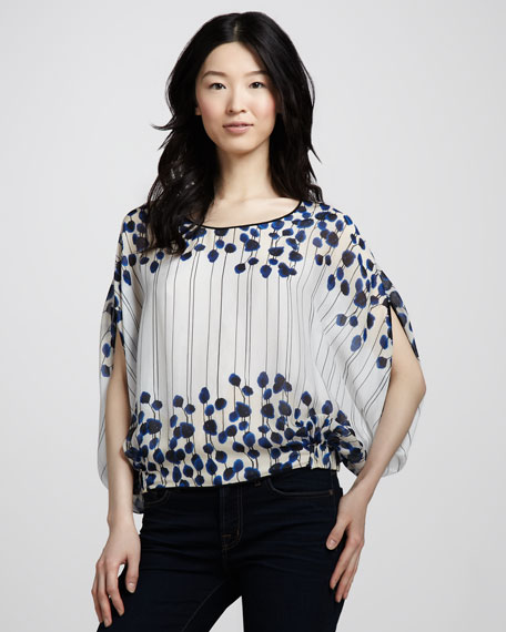 Robyn Poppy-Print Top